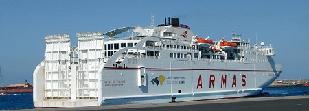 Travelling between the canary islands for Oficina armas lanzarote