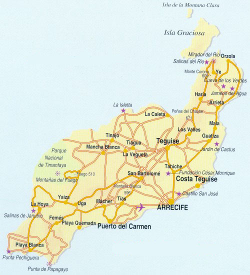 Bildergebnis für lanzarote map